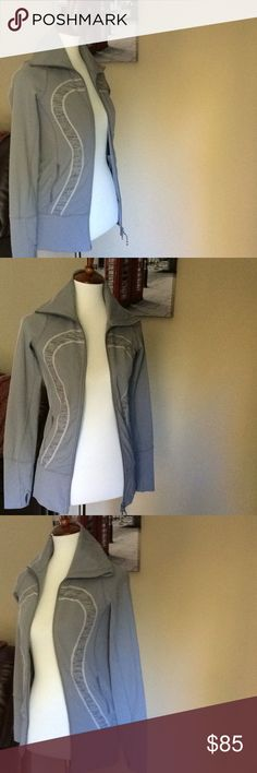 "💕Lululemon Athletica forme define Jacket Sz 2 Lululemon athletica forme zip up jacket really cute Gray in Excellent Condition! Length 26"" bust 16"". Great Quality all my lululemon. 🤗 lululemon athletica Jackets & Coats"