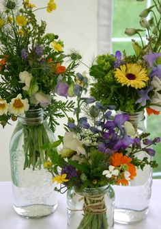 """(inter)National Lonely Bouquet Day: Grab an old or recycled jar or bottle, fill with fresh flowers, attach a tag that reads """"take me"""" and leave in a public place. Instant happiness."""