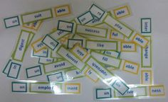 Prefixes, Root words and Suffixes - A match-up Activity $