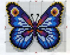 This Pin was discovered by Xim Fuse Bead Patterns, Perler Patterns, Loom Patterns, Beading Patterns, Bracelet Patterns, Cross Stitch Charts, Cross Stitch Designs, Cross Stitch Patterns, Butterfly Cross Stitch