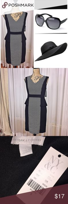 NWT NY & CO dress Color bloc sides with peplum design. Perfect office wear Dresses