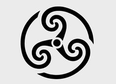 Celtic triple spiral, celtic stencil designs,celtic stencil, celtic knot stencil - Adapt to use as a seal over kitchen stairs on grey background. Symbols And Meanings, Celtic Symbols, Celtic Art, Druid Tattoo, Spiral Tattoos, New Tattoos, Tatoos, Carving Designs, Celtic Mythology