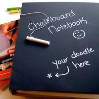 Chalkboard Notebook & Chalk, Binder Notebook for Back to School Supplies