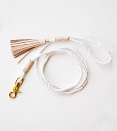 CLASSIC ROPE LEASH, NUDE - Chapman at Sea - Handcrafted Surfboard Bags