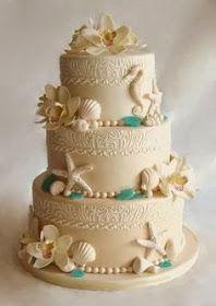 Popular Pinterest: Beach Wedding themed cake