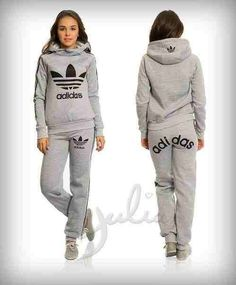 Grey old fashion Adidas tracksuit