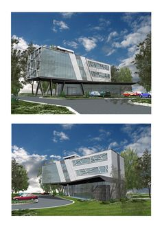 Ideas de #Edificios de #Exterior, estilo #Vanguardista diseñado por DJurica DUMA Arquitecto con #Dibujos #Fachada #Vidrio #Maquetas  #CajonDeIdeas http://planreforma.com/es/