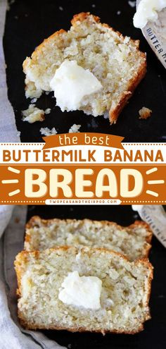 Looking for a delicious yet easy breakfast recipe or brunch recipe? This Buttermilk Banana Bread recipe does not disappoint! This quick bread recipe is moist and has a wonderful aroma. Save this pin for later! Buttermilk Banana Bread, Banana Bread Recipes, Quick Bread Recipes, Delicious Breakfast Recipes, Brunch Recipes, Best Breakfast, Breakfast Ideas, Snacks For Work, Tasty