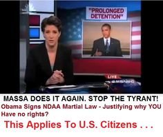 STOP THE TYRANNY FROM THE WHITE HOUSE! Barack Hussein Obama is The Tyrant.  BARACK HUSSEIN OBAMA, Strikes Again! Obama Signs NDAA Martial Law 8 Justifying why YOU have no Rights?  Are there more of you who want to know the truth about #TheFirstBeast of Revelation Chapter 13. We would appreciate any comments that you may have, pro or con.  VISIT US AT: http://stopbarackobama.circle-b-inc.com/id31.htm