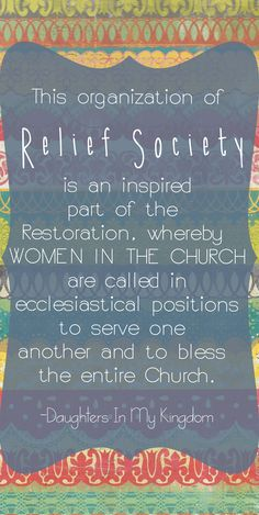 ~Relief Society~