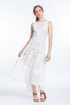 White Lace Directional Maxi