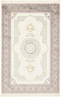 Cream Tabriz Design Area Rug