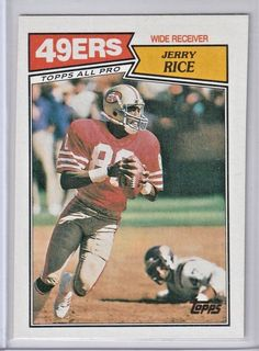2f8e12b756f 1987 Topps Jerry Rice San Francisco 49ers HOF   115 NM-MT   SanFrancisco49ers Football