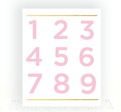 Printable Numbers Printable Nursery Wall Art Number by BlessedType