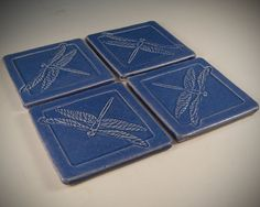 Arts and Crafts Dragonfly tile / coasters