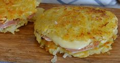 Potato rosti with ham and cheese recipe easy Prosciutto, Cheese Recipes, Cooking Recipes, Veggie Bites, Slovak Recipes, Love Eat, Polish Recipes, Ham And Cheese, Galette