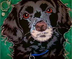 pet portrait  commissioned portraits by Hannah Stone  prices start at three hundred dollars