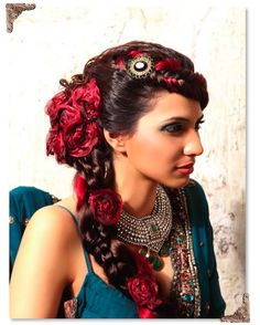Gypsy Wedding Hair | This one also looks mixed. Very beautiful woman.