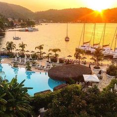 Sunset over the Yacht Classic Hotel in #Fethiye.