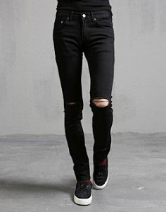 K-POP Men's Fashion Style Store [TOMSYTLE]  ruptured knee Skinny P / Size : S,M,L,XL / Price : 42.40 USD #mensfashion #Kpop #boy #fashion #unique #TOMSTYLE #OOTD #pants #skinny #black #dailylook
