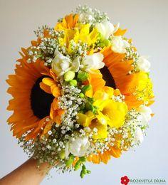 Slunečnice - svatební kytice