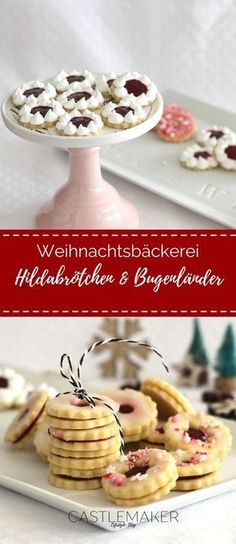 Delicate almonds cookies as Hildabrötchen and Burgenland recipe - kekse - Macarons German Cookies, Raspberry Filling, German Christmas, Almond Cookies, Biscuit Cookies, Happy Foods, Four, Cookie Recipes, Biscuits