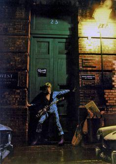 "David Bowie's ""Ziggy Stardust"" shoot, by Brian Ward, January 1972"