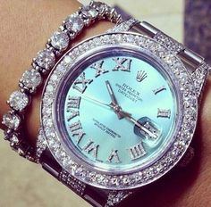 Rolex watch - Diamonds - Bracelet