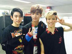 #아스트로 #ASTRO #ParkMinHyuk #Rocky #astroRocky with Romeo's Hyunkyung and Got7's Junior #aroha