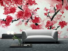CHERRY BLOSSOM WALLPAPER MURAL