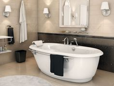 48 Unique Bathtub Designs You Must See. Mott Ironworks poured enamel over the interior of cast iron small clawfoot bathtubs in creating a smoother, glass type finish. This bathtub type . Diy Bathtub, Small Bathtub, Bathtub Remodel, Bathtub Ideas, Soaker Tub Free Standing, Standing Bathtub, Traditional Bathtubs, Bathroom Renovation Cost, Vintage Tub