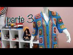 Suéter Abrigo Granny parte 3 #Ganchillo #Crochet Sweater #Diy - YouTube