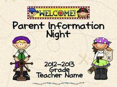 207 best teacherspayteachers images on pinterest pirate theme parent information night power point template pirate theme toneelgroepblik Images