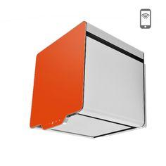 Okap kominowy Ciarko Design Cube pomarańczowy http://www.sklep.ciarkodesign.pl/e-sklep/okapy-kominowe/cube-38-orange-detail #DESIGN #KITCHEN #OKAP #HOOD