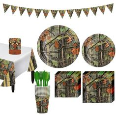 In this Hunting Camo Tableware Party Kit for 16 Guests, you'll find all the party supplies you need for your Hunting Camo birthday party. Kit includes tableware, decorations, and cutlery. Camo Party Supplies, Birthday Supplies, Deer Hunting Birthday, Hunting Camo, Party Kit, Party Ideas, Camo Birthday Party, 8th Birthday, Birthday Parties