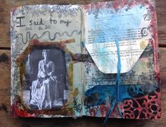 Altered book page. Love this.