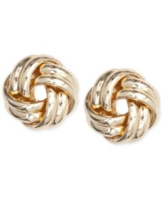 Carissima Gold 9ct Yellow Gold 11mm Knot Stud Earrings 1f0KVG6WD