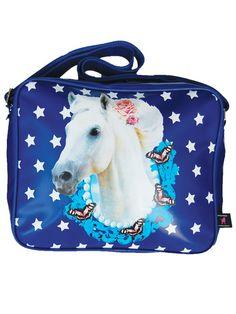 Schoudertas Paard blauw