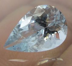 2.3 Cts 11.5x7.7 MM Top Natural Faceted Aquamarine VS Pear Cut Loose Gemstones #Unbranded