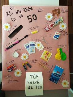 Für die Frau ab 50 – Presents for kids Birthday Money Gifts, Birthday Gifts For Bestfriends, Funny Birthday Gifts, Birthday Diy, Happy Birthday Cards, Birthday Presents, Birthday Ideas, Presents For Kids, Gifts For Girls