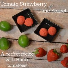 Tomato Strawberry Lime Sorbet a perfect recipe with tomatoes #DinnerDone #shop - Craft Dictator
