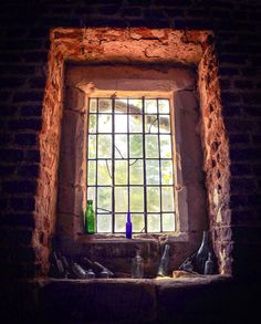 Window and bottles