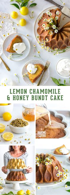 Lemon Chamomile Honey Bundt Cake recipe by Baking The Goods - a bright, lemony cake mellowed with lightly floral & earthy chamomile tea buds, kissed with honey for a touch of sweetness.