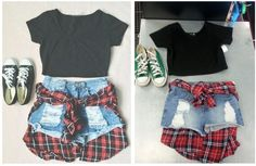 Get the whole outfit on the right for about the price of just the shoes on the left at Plato's Closet in Bountiful