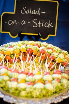 Fun food for a school-themed wedding