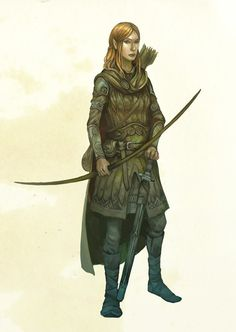 Nenya Ellenir, guard and hunter in the elven kingdom Fagal in the Long coast ridge west of the Green giant valley.