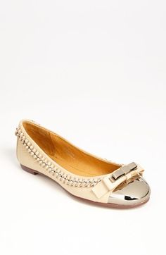 Jeffrey Campbell 'Carrie-B' Cap Toe Ballet Flat available at #Nordstrom