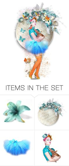 """""""A Doll To Indulge My Dear Judy :)"""" by mari-777 ❤ liked on Polyvore featuring art, doll, coral and turquoise"""