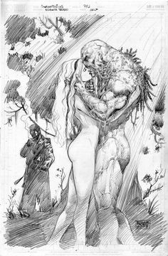 Swamp Thing & Abby - pencils//Ed Tadeo/T/ Comic Art Community GALLERY OF COMIC ART