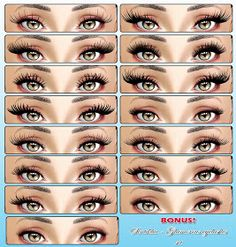 Sintiklia's creations: Big set of eyelashes: few collections for Sims 3